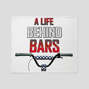 BMX A Life Behind Bars Throw Blanket