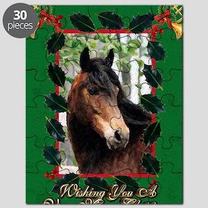 Morgan Horse Christmas Puzzle