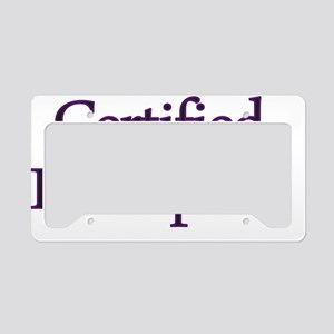 Certified Bibliophile License Plate Holder