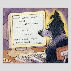 Border Collie dog writer King Duvet