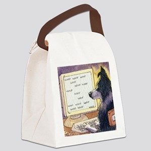 Border Collie dog writer Canvas Lunch Bag