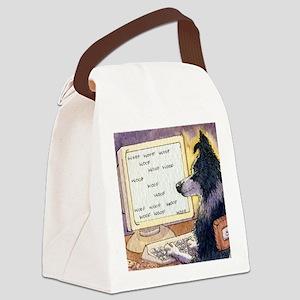 Border Collie dog writer Canvas Lunch Bag
