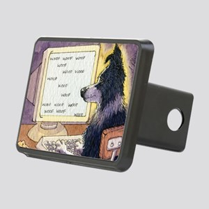 Border Collie dog writer Rectangular Hitch Cover