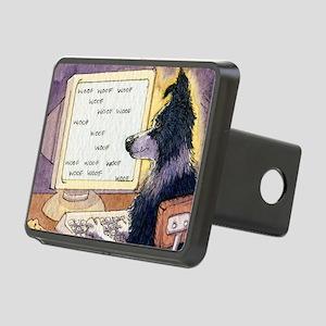 Border Collie dog writer Rectangular Hitch Cover