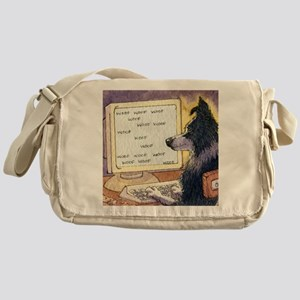 611ae715ac Border Collie dog writer Messenger Bag