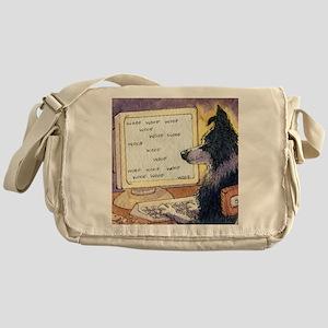 611ae715ac Border Collie dog writer Messenger Bag