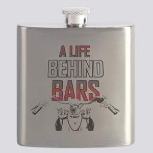 Motorcycle A Life Behind Bars Flask
