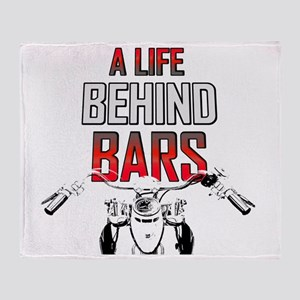 Motorcycle A Life Behind Bars Throw Blanket