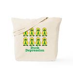 Depression Awareness Ribbon Ducks Tote Bag