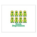Depression Awareness Ribbon Ducks Small Poster