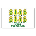 Depression Awareness Ribbon Ducks Sticker (Rectang