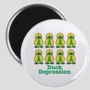 Depression Awareness Ribbon Ducks Magnet