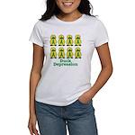 Depression Awareness Ribbon Ducks Women's T-Shirt