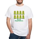 Depression Awareness Ribbon Ducks White T-Shirt
