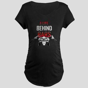 A Life Behind Bars Maternity Dark T-Shirt