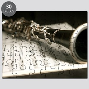 Clarinet and Music Case Laptop Skin Puzzle