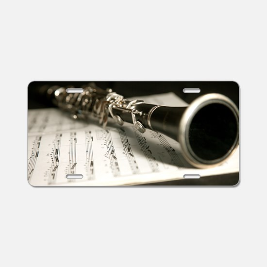 Clarinet and Music Case Lap Aluminum License Plate