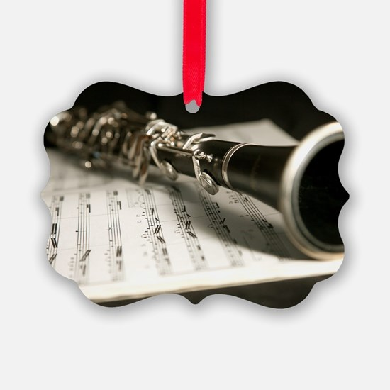Clarinet and Music Case Laptop Sk Ornament