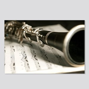 clarinet and Music Case M Postcards (Package of 8)