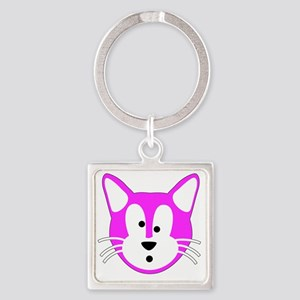 Jamie Cat for Beach Tote Back Square Keychain