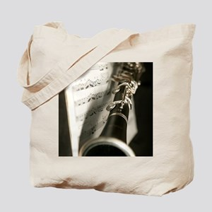 Clarinet and Musc Flip Flops Band Tote Bag