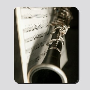 Clarinet and Musc Flip Flops Band Mousepad