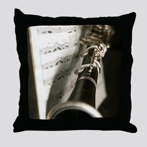 Clarinet and Musc Flip Flops Band Throw Pillow