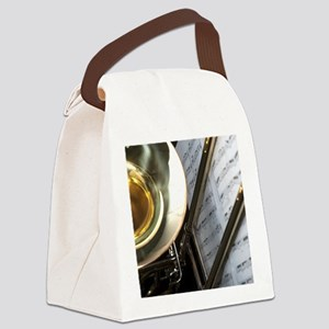 Trombone Music and Notes  Flip Fl Canvas Lunch Bag