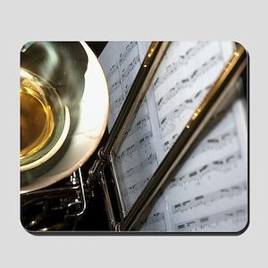Trombone Music Notes Laptop Skin Mousepad