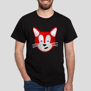 Henry Cat for Beach Tote Back Dark T-Shirt