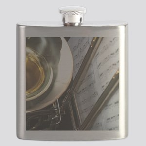 Trombone Music and Notes  Flip Flop Flask
