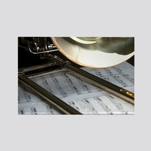 Trombone and Music Shirt Rectangle Magnet