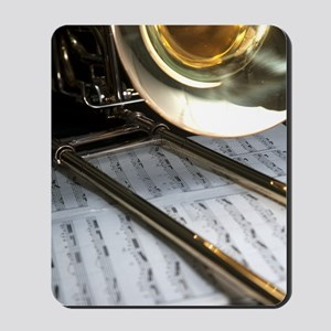 Trombone and Music and Band Journal Mousepad
