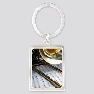 Trombone and Music and Band Jour Portrait Keychain