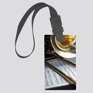 Trombone and Music and Band Jour Large Luggage Tag
