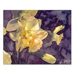 """Moonlight Daffodils Watercolor Poster16x20"""""""