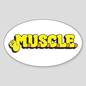 M.U.S.C.L.E. Sticker (Oval)