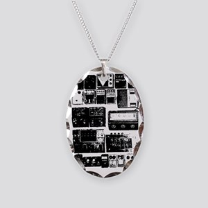 Pedal Board black Necklace Oval Charm