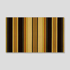 Bold Black and Tan Striped 20x12 Wall Decal