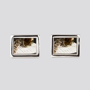 Saxophone Music and Notes Laptop Skin Cufflinks