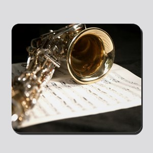 Saxophone Music and Notes Laptop Skin Mousepad