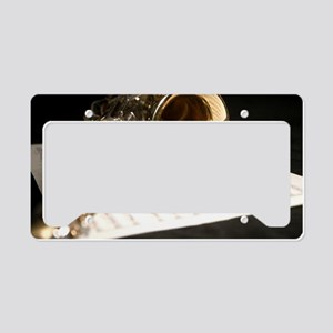 Saxophone Music and Notes Lap License Plate Holder