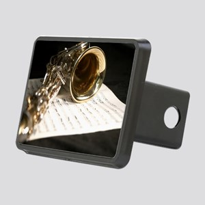 Saxophone Music and Notes  Rectangular Hitch Cover
