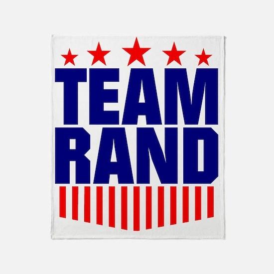 Team Rand Paul Throw Blanket