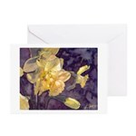 """Moonlight Daffodils Watercolor Cards (6) 5x7"""""""