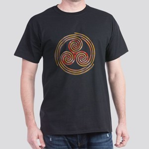 Triple Spiral - 6 Dark T-Shirt
