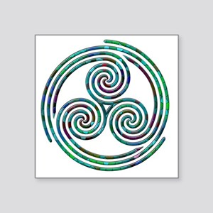 "Triple Spiral - 7 Square Sticker 3"" x 3"""