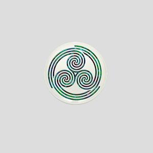 Triple Spiral - 7 Mini Button