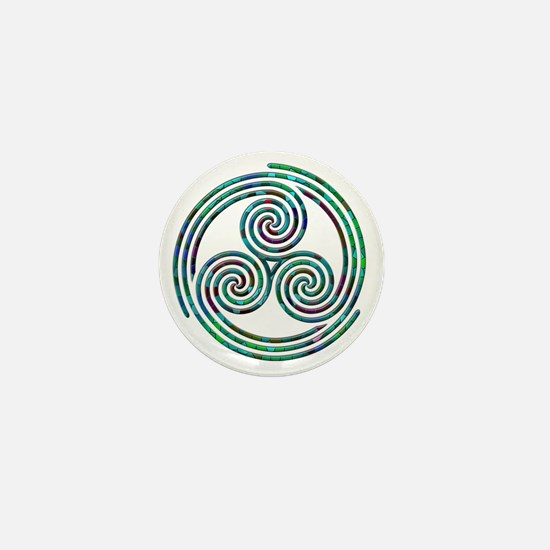 Triple Spiral - 7 Mini Button