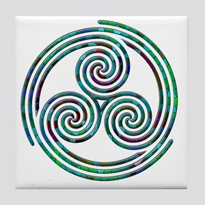 Triple Spiral - 7 Tile Coaster